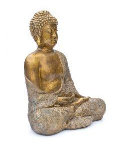 japanse-boeddha-30cm-bronslook-zijkant-rechts