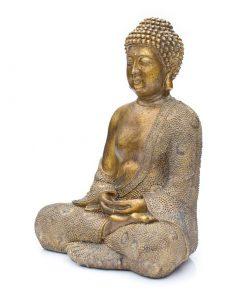 japanse-boeddha-30cm-bronslook-zijkant-links