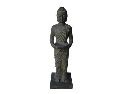 Boeddha beeld staand Indisch donkergrijs 100cm