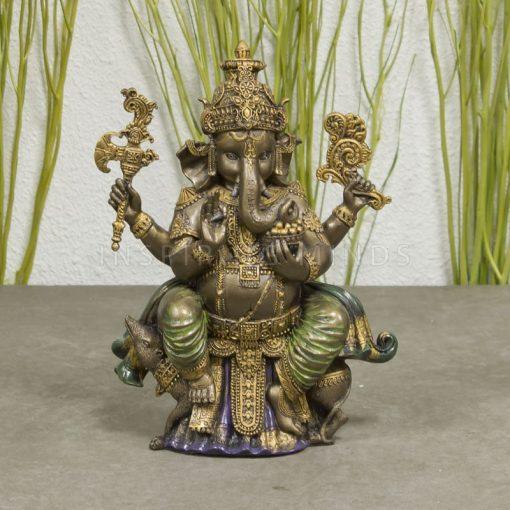 ganesha beeld zittend op rat